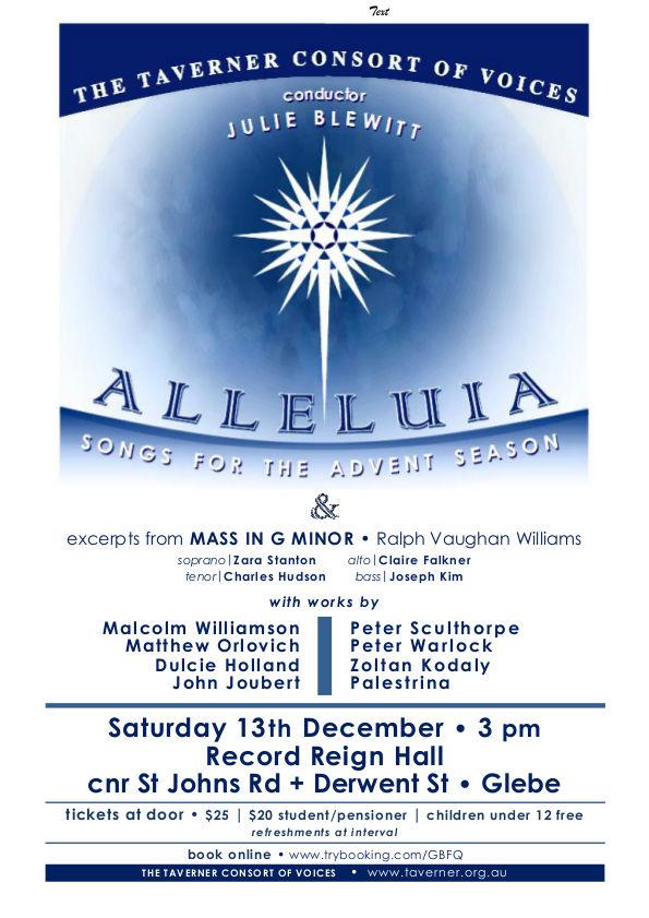 Concert poster - Alleluia